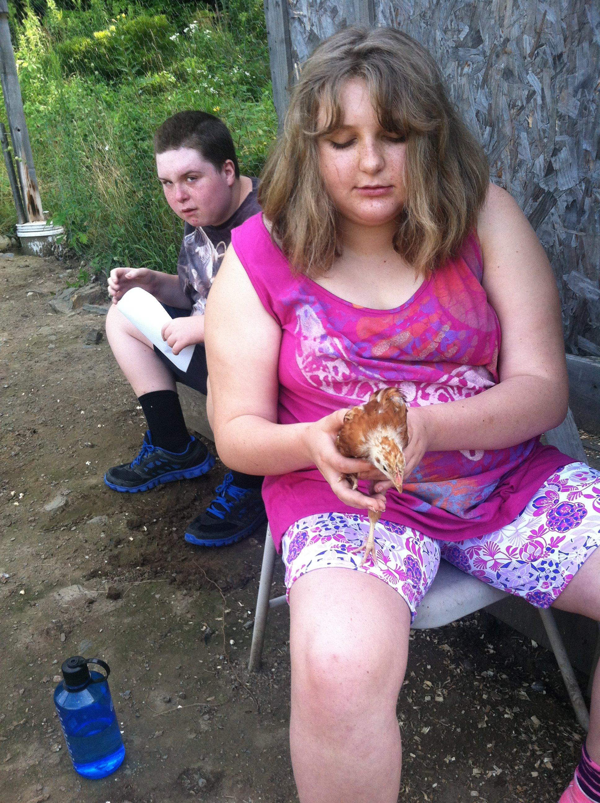 kristen-bonding-with-new-chick